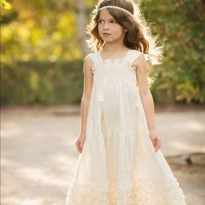 Persnickety | Eleanor Ruffle Ivory Dress | 12M